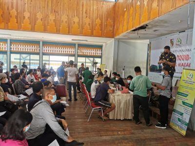 DPD KNPI Riau Sukses Gelar Penyuntikan Vaksin Untuk Masyarakat